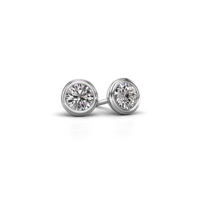 Photo de Clous d'oreilles Shemika 925 argent diamant 0.40 crt