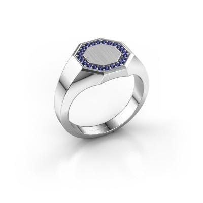 Heren ring Floris Octa 2 950 platina saffier 1.2 mm
