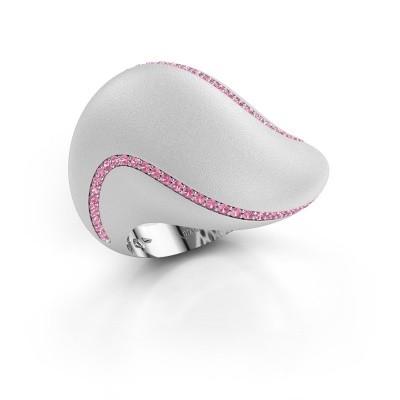 Bild von Ring Phyliss 585 Weißgold Pink Saphir 1 mm