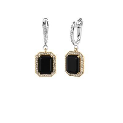 Bild von Ohrhänger Dodie 2 585 Gold Schwarz Diamant 6.345 crt