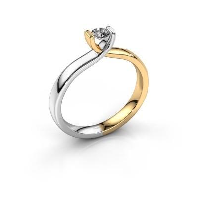 Foto van Verlovingsring Noor 585 goud diamant 0.20 crt
