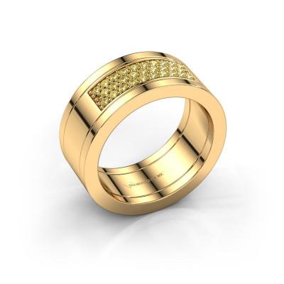Ring Marita 3 585 goud gele saffier 1.3 mm