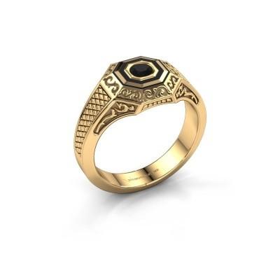 Men's ring Dion 585 gold black diamond 0.30 crt