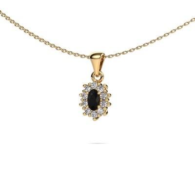 Foto van Ketting Leesa 375 goud zwarte diamant 1.76 crt