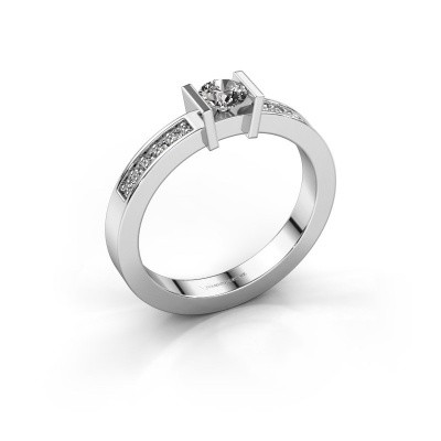 Foto van Aanzoeksring Maryam 585 witgoud diamant 0.35 crt