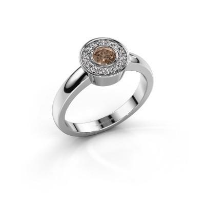 Ring Adriana 1 950 platina bruine diamant 0.37 crt