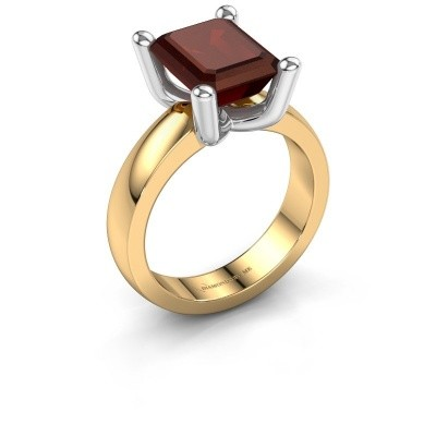 Ring Clelia EME 585 goud granaat 10x8 mm