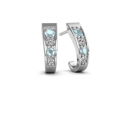 Picture of Earrings Glady 925 silver aquamarine 3 mm