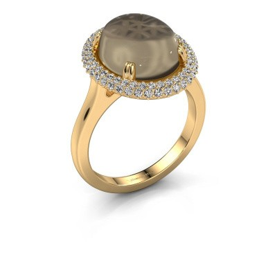 Ring Jayna 585 gold smokey quartz 12x10 mm