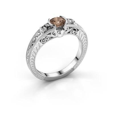 Foto van Promise ring Tasia 585 witgoud bruine diamant 0.70 crt