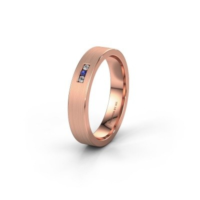 Wedding ring WH0106L14AM 375 rose gold sapphire ±0.16x0.07 in