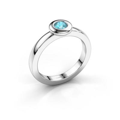 Ring Iris 585 white gold blue topaz 4 mm