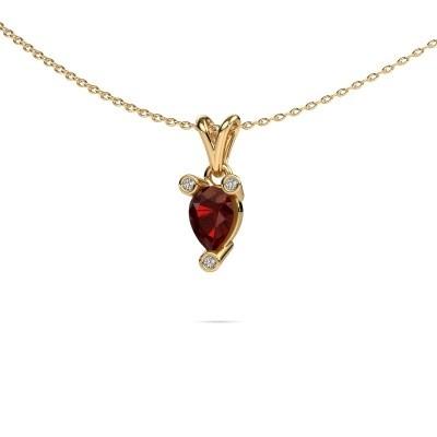Picture of Necklace Cornelia Pear 375 gold garnet 7x5 mm