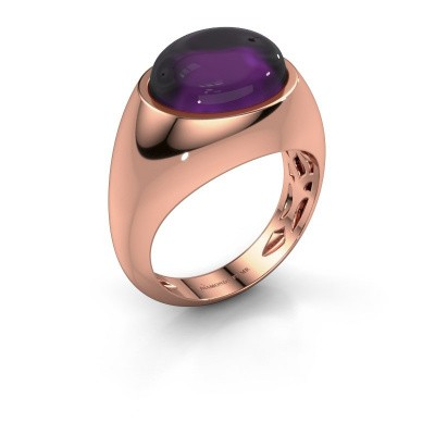 Ring Laurien 375 rose gold amethyst 12x10 mm