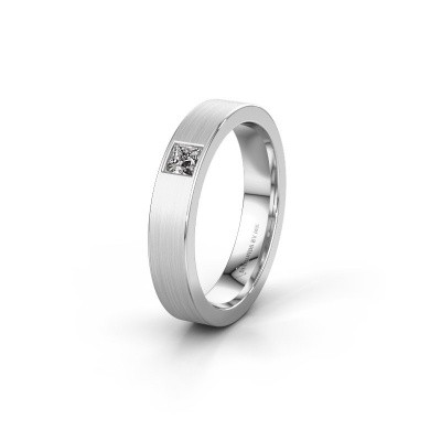 Picture of Friendship ring WH0101L14BMSQ 585 white gold zirconia ±4x2 mm