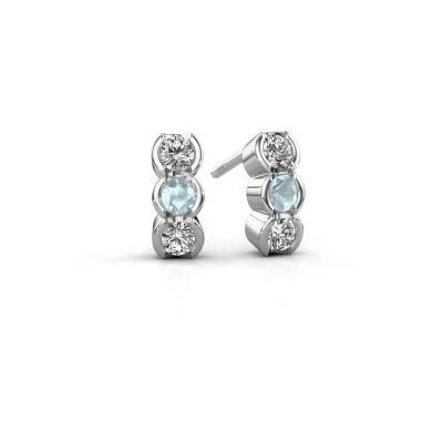 Foto van Oorbellen Lotte 585 witgoud diamant 0.40 crt