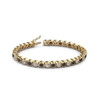 Foto van Tennisarmband Bianca 375 goud zwarte diamant 9.650 crt