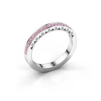 Ring Yasmine 585 Weißgold Pink Saphir 1.2 mm