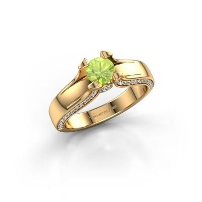 Verlovingsring Jeanne 1 375 goud peridoot 5 mm