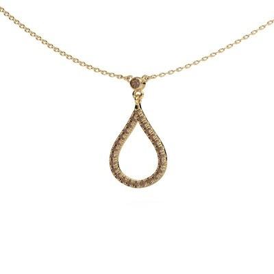 Ketting Alona 375 goud bruine diamant 0.29 crt