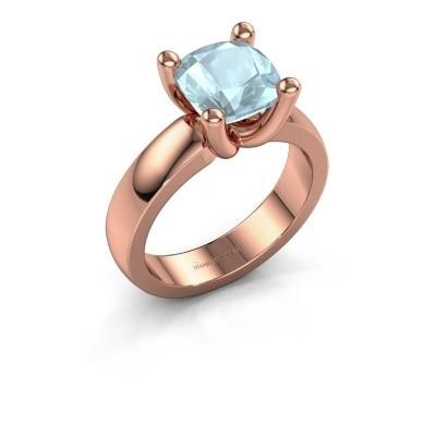 Ring Clelia CUS 585 rosé goud aquamarijn 8 mm