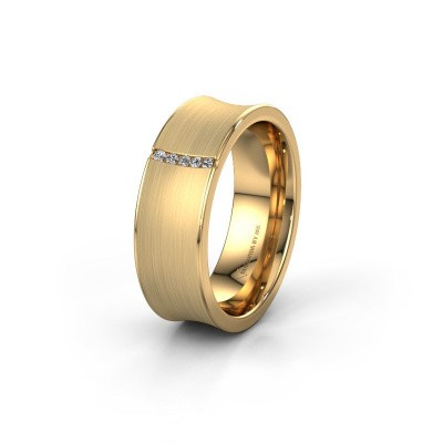 Trouwring WH2021B 375 goud diamant ±6x2 mm