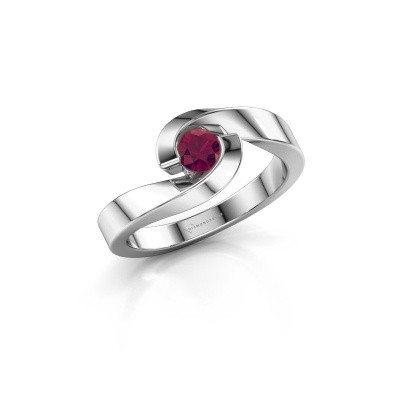 Picture of Ring Sheryl 925 silver rhodolite 4 mm
