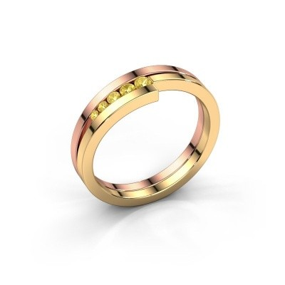 Foto van Ring Cato 585 rosé goud gele saffier 2.2 mm