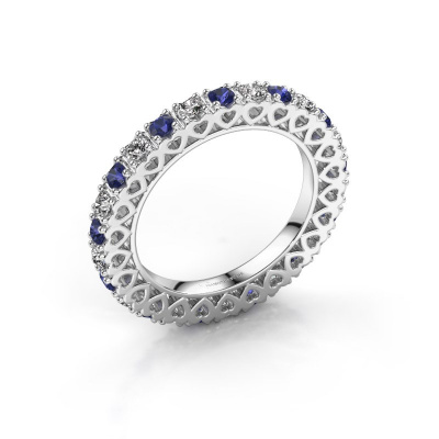 Stackable ring Hailey 925 silver sapphire 2.2 mm