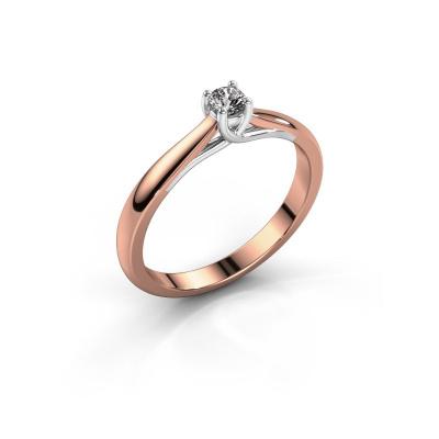 Bague de fiançailles Mia 1 585 or rose diamant 0.08 crt