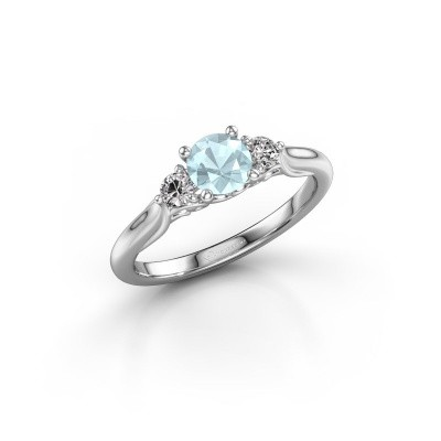 Picture of Engagement ring Laurian RND 950 platinum aquamarine 5 mm