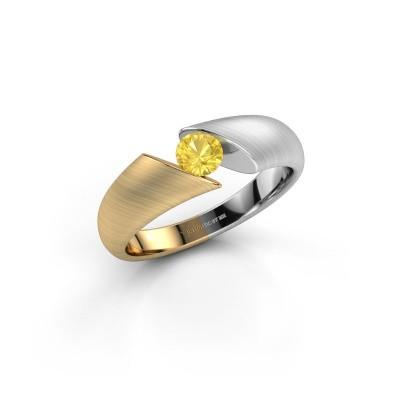 Foto van Ring Hojalien 1 585 goud gele saffier 4.2 mm