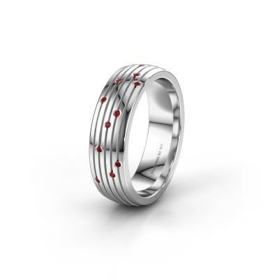 Wedding ring WH0150L26A 925 silver ruby ±6x1.7 mm