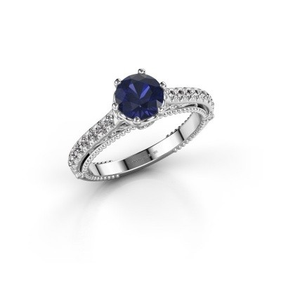 Picture of Engagement ring Venita 585 white gold sapphire 6.5 mm