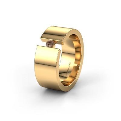 Ehering WH0146L18BP 375 Gold Braun Diamant ±8x2 mm