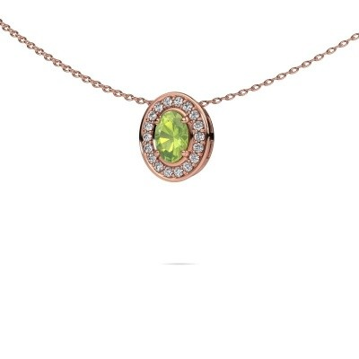 Picture of Necklace Madelon 375 rose gold peridot 6x4 mm