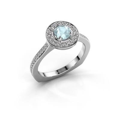 Ring Kanisha 2 925 zilver aquamarijn 5 mm