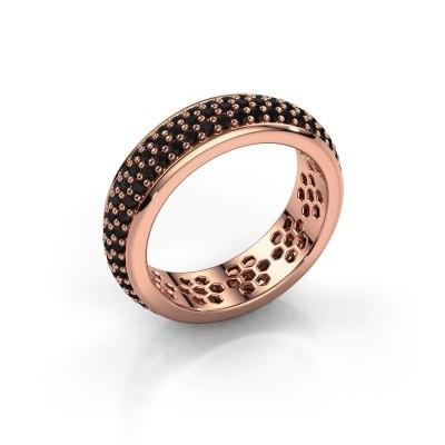 Ring Tara 375 Roségold Schwarz Diamant 1.584 crt