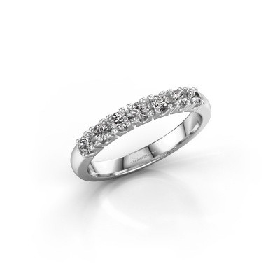Engagement ring Rianne 7 950 platinum zirconia 2.4 mm