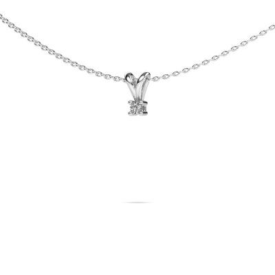 Bild von Kette Eline 585 Weißgold Diamant 0.15 crt