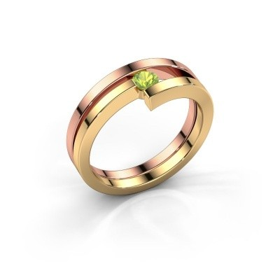 Ring Nikia 585 rosé goud peridoot 3.4 mm