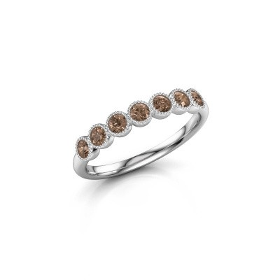 Foto van Ring Mariam half 950 platina bruine diamant 0.385 crt