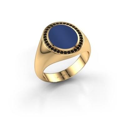 Signet ring Adam 2 375 gold lapis 12x10 mm