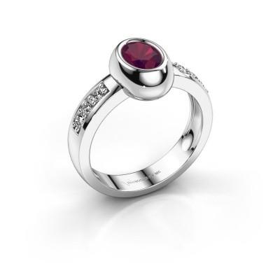 Ring Charlotte Oval 925 Silber Rhodolit 7x5 mm