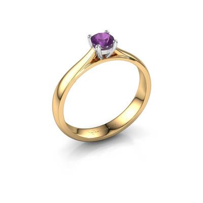 Engagement ring Sam 585 gold amethyst 4.2 mm