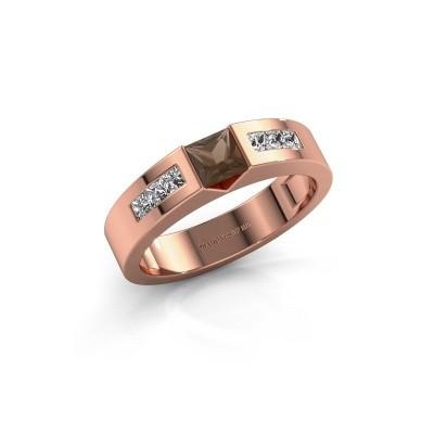 Foto van Verlovings ring Arlena 2 375 rosé goud rookkwarts 4 mm