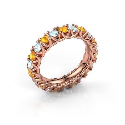 Foto van Ring Fenna 375 rosé goud citrien 3 mm
