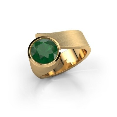 Ring Nakia 585 goud smaragd 8 mm