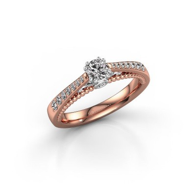 Foto van Verlovingsring Rozella 585 rosé goud diamant 0.468 crt