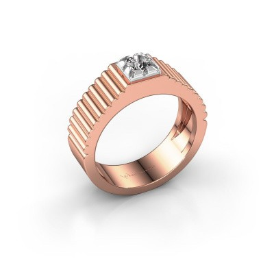 Pink ring Elias 585 rosé goud diamant 0.30 crt
